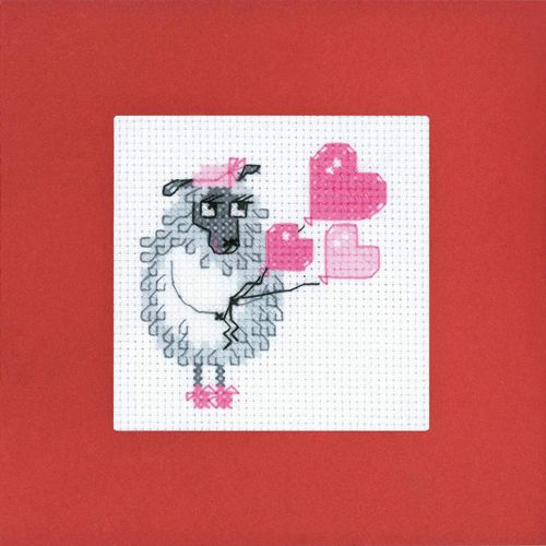 1461АС Набор для вышивания Riolis открытка 'C праздничком!', 14*14 см
