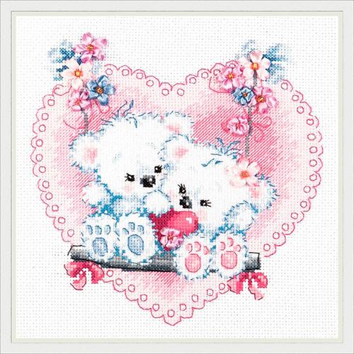 80-06 Набор для вышивания 'Чудесная игла', 'Счастливая любовь!', 18*18 см
