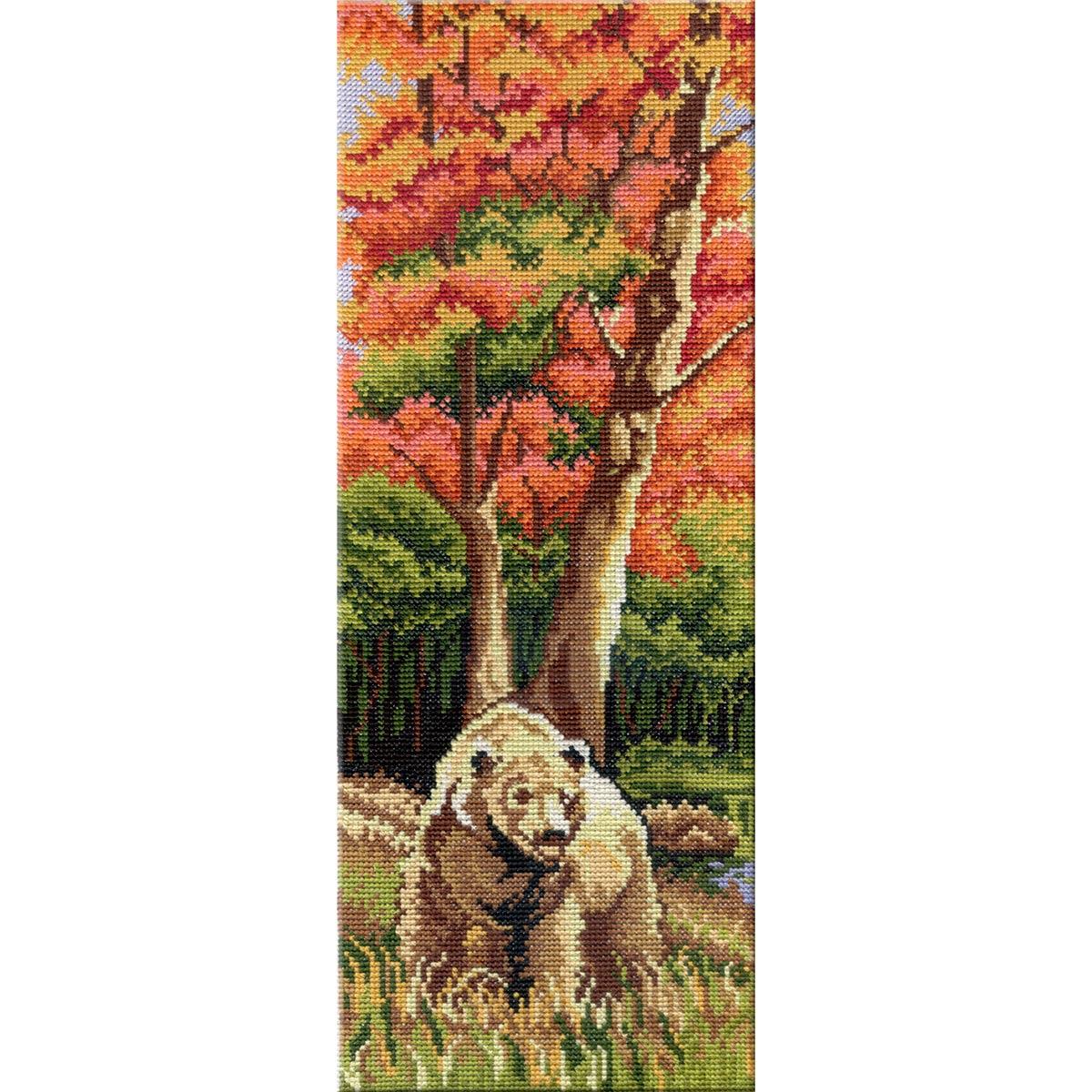 НВ-262 Набор для вышивания мулине 'МП Студия' 'Триптих 'Животные' 1 часть', 38х15 см