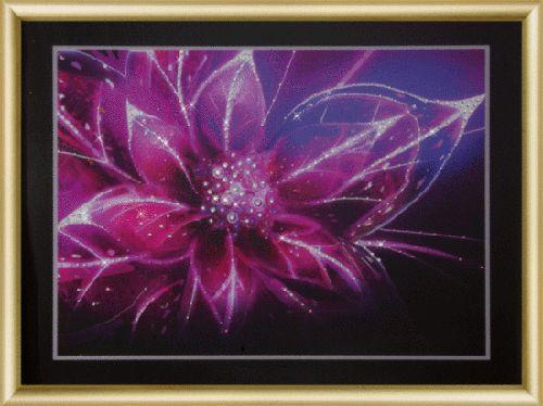 КС170 Набор для изготовления картины со стразами 'Звёздный лотос'