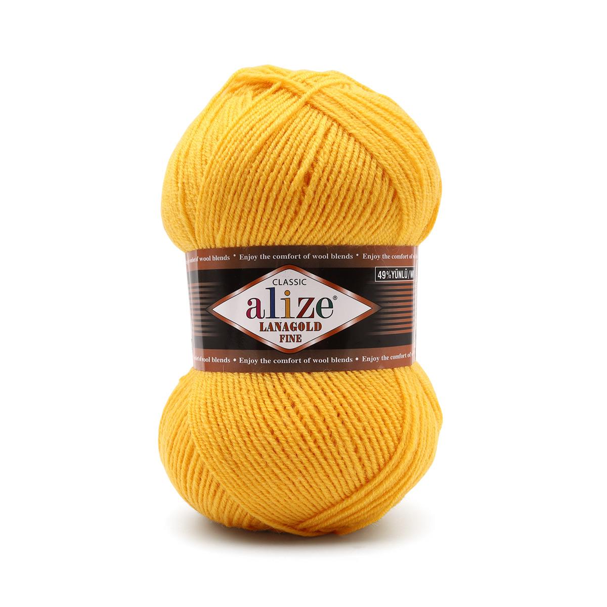 Пряжа ALIZE 'Lanagold fine' 100 гр. 390м (49%шерсть, 51% акрил)
