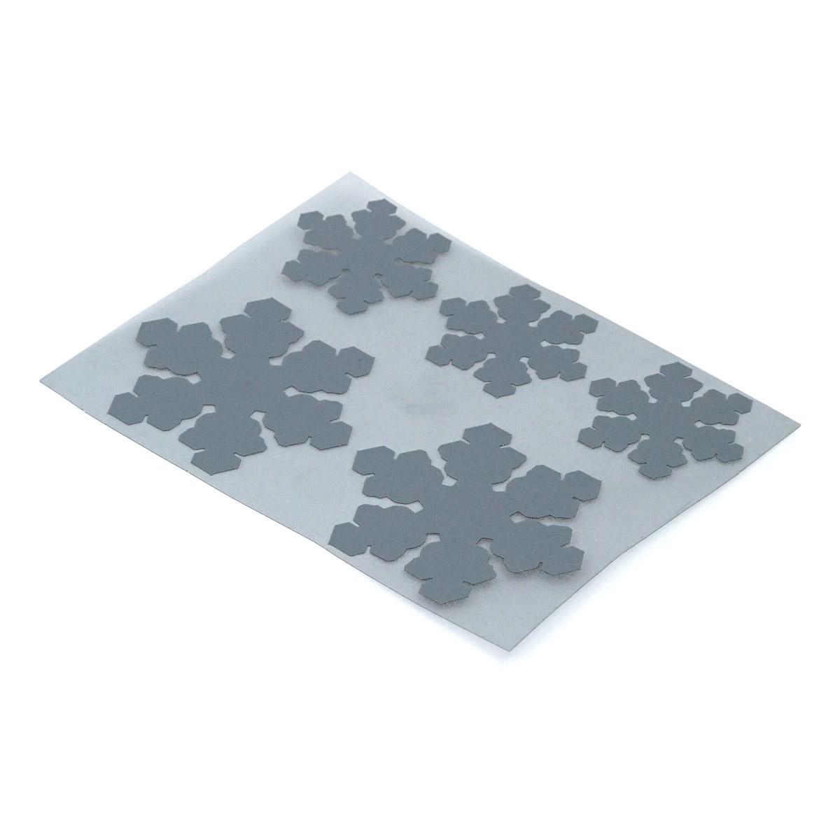 Набор светоотражающих наклеек на одежду 'Снежинки'