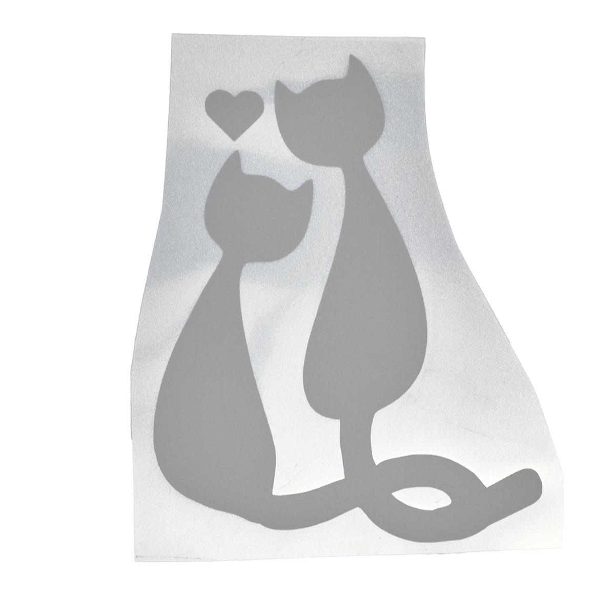 Светоотражающая наклейка на одежду 'Кот и кошка'
