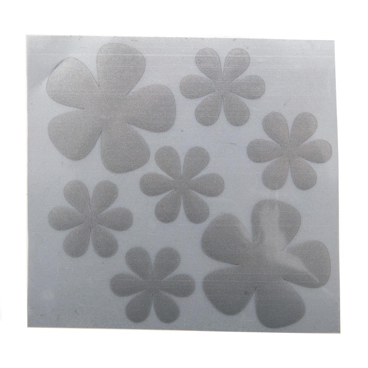 Светоотражающая наклейка на одежду 'Большой набор цветочков'
