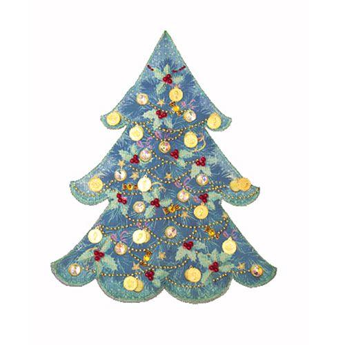 8231 Набор для вышивки и частичного шитья 'Матренин посад' чехол на бутылку 'Голубая ель', 29*36 см