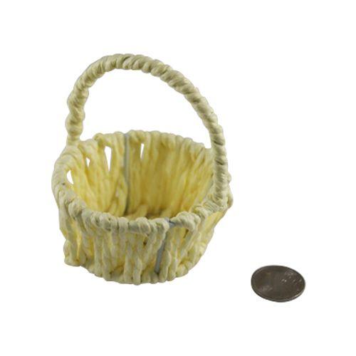 Корзинка оплетённая бумажной раффией круглая (7х7х8,5)