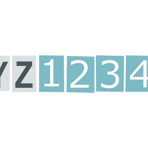 Бумажный скотч с принтом Номера 15мм*8м SCB490001