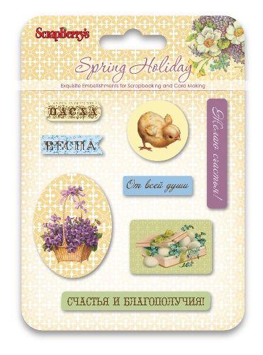 Набор эпоксидных наклеек Весенний праздник (RU) SCB34001077 фото