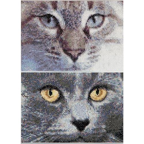 541А Набор для вышивания Gouverneur 'Кошки Джек+Луна' 17*12 см