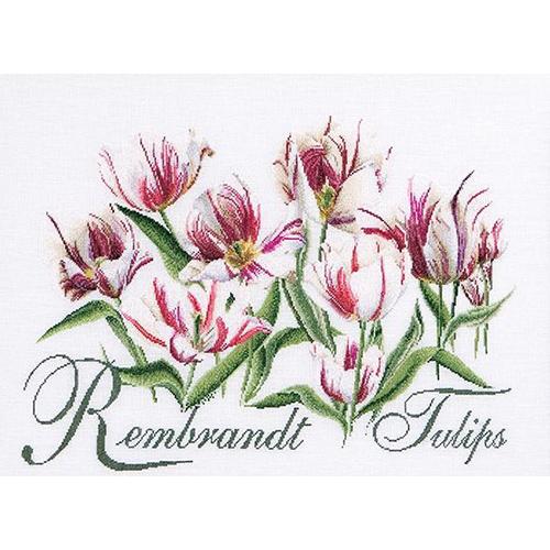 447 Набор для вышивания Gouverneur 'Тюльпаны Рембрандт', лён, 59*43 см