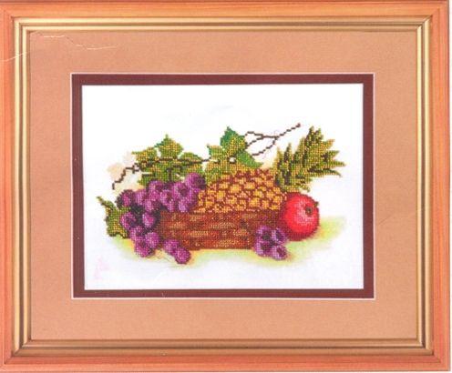 НР-3006 Канва с рисунком для вышивания бисером 'Тропические фрукты' Hobby&Pro 27*18см