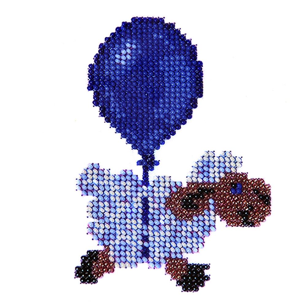 Б-0004 Набор для вышивания бисером 'Бисеринка' 'Овечка', 8*11 см