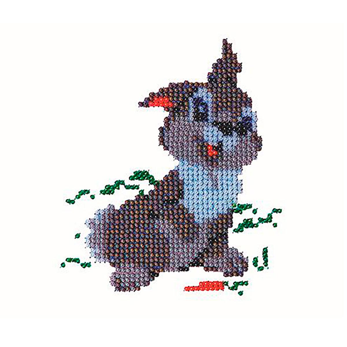 Б-0037 Набор для вышивания бисером 'Бисеринка' 'Зайка', 12*11 см фото
