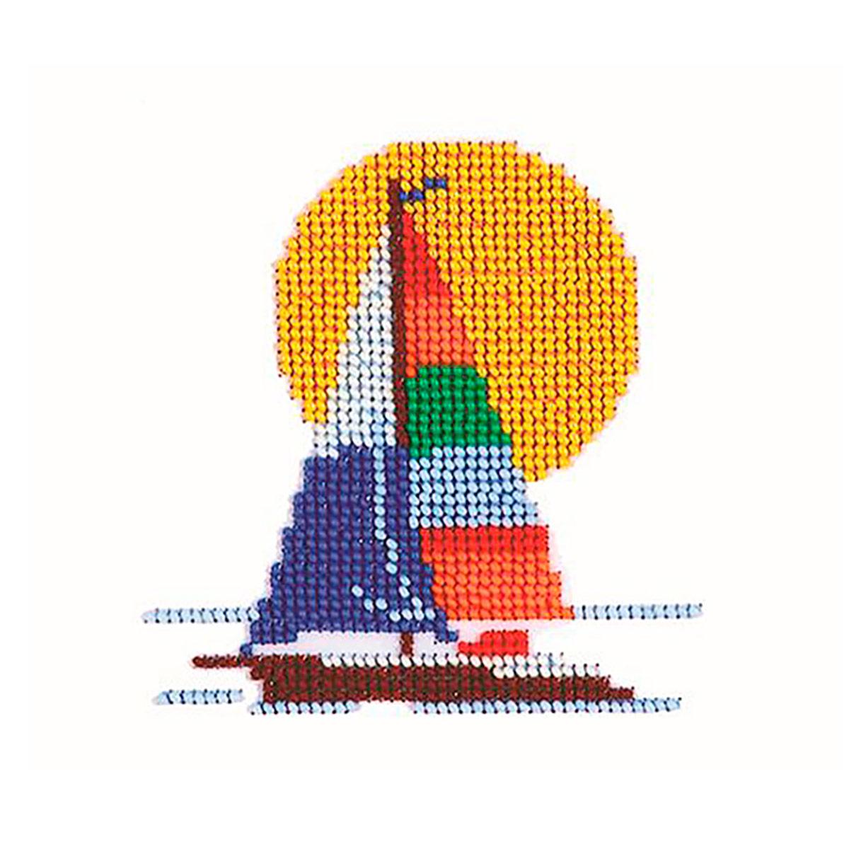 Б-0032 Набор для вышивания бисером 'Бисеринка' 'Парусник', 11*11 см