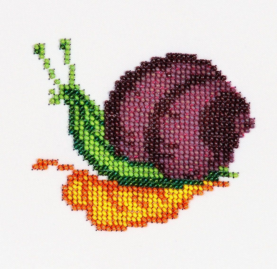 Б-0070 Набор для вышивания бисером 'Бисеринка' 'Улитка', 9*10 см