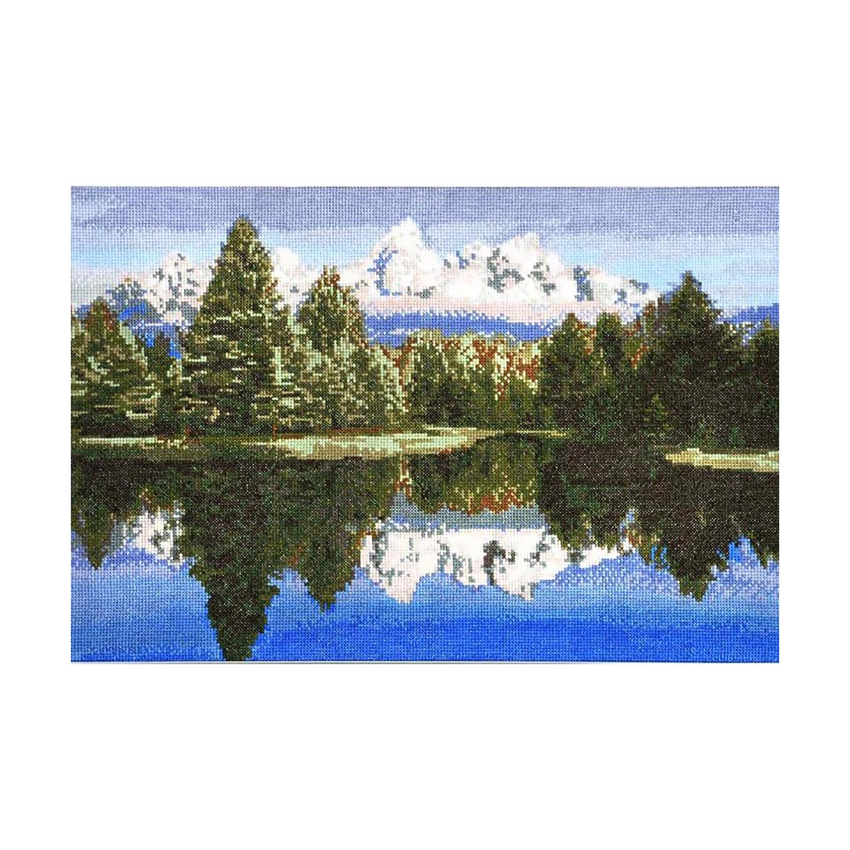 """Набор для вышивания 693 """"Горное озеро"""", 42х29 см, Hobby&Pro"""