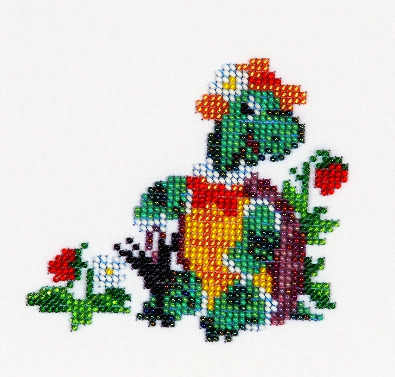 Б-0059 Набор для вышивания бисером 'Бисеринка' 'Черепашка', 10*11 см