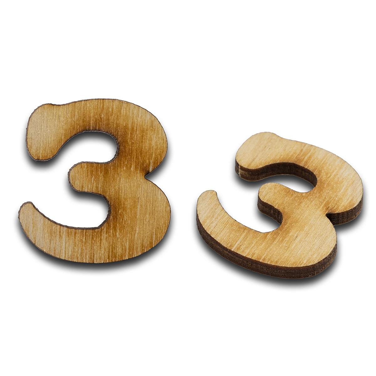 L-238 Деревянная заготовка 'Буква З', 30х27х4 мм, упак./2 шт., 'Астра'