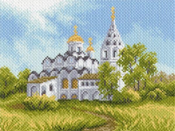 1684 Канва с рисунком 'Матренин Посад' 'Белая церковь' 28*34 см