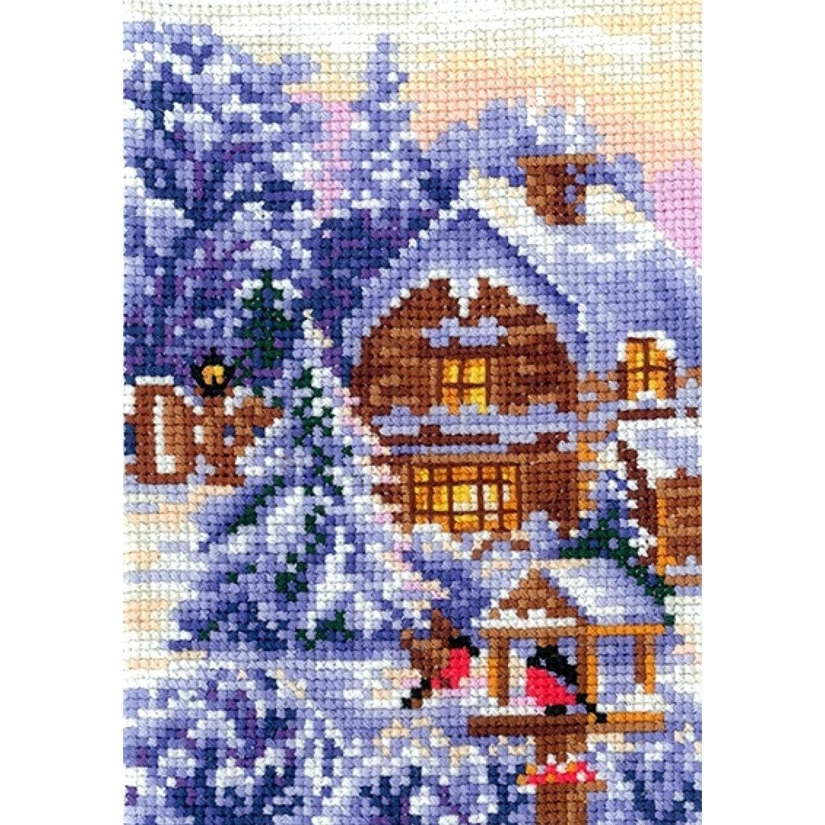 В-21 Набор для вышивания 'Времена года. Зима', 10*15 см