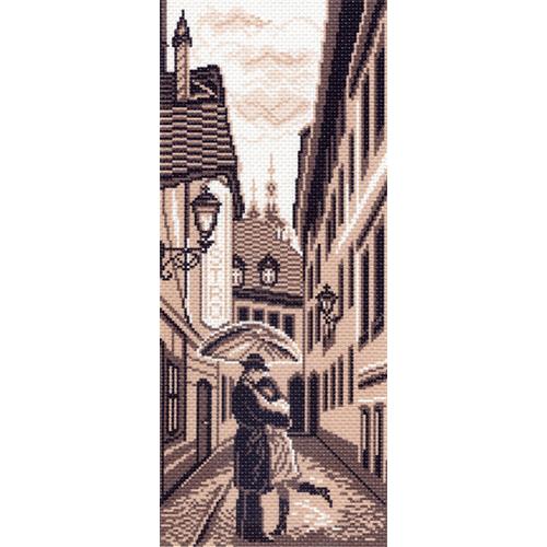 1430 Канва с рисунком 'Матренин посад' 'Городской роман', 24*47 см