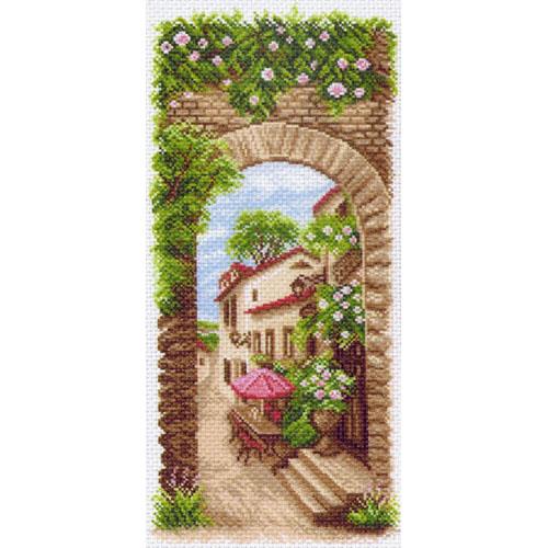1476 Канва с рисунком 'Матренин Посад' 'Летнее кафе', 24*47 см
