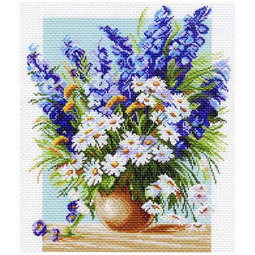 1142 Канва с рисунком 'Матренин посад' 'Голубой фонтан', 37*49 см