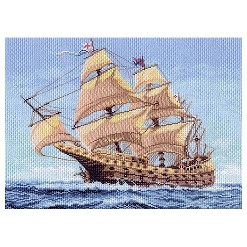 1148 Канва с рисунком 'Матренин посад' 'Морской странник', 37*49 см