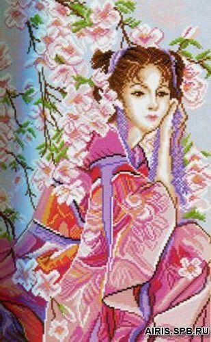 1153 Канва с рисунком 'Матренин посад' 'Розовые мечты', 37*49 см