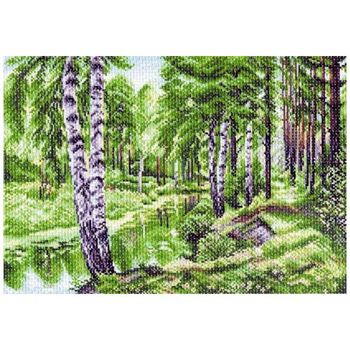 1228 Канва с рисунком 'Матренин посад' 'Летний пейзаж', 37*49 см