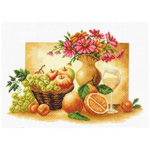 1230 Канва с рисунком 'Матренин посад' 'Оранжевый натюрморт', 37*49 см