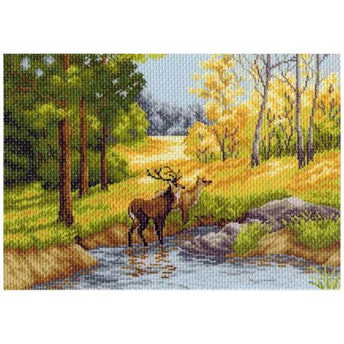 1233 Канва с рисунком 'Матренин посад' 'Осенний день', 37*49 см