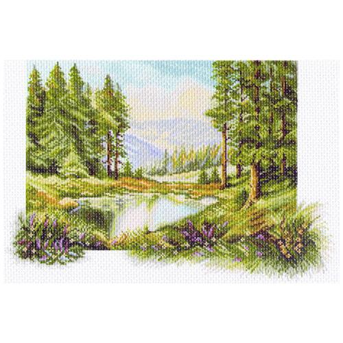 1237 Канва с рисунком 'Матренин посад' 'Пейзаж с соснами', 37*49 см
