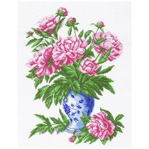 1238 Канва с рисунком 'Матренин посад' 'Пионы', 37*49 см