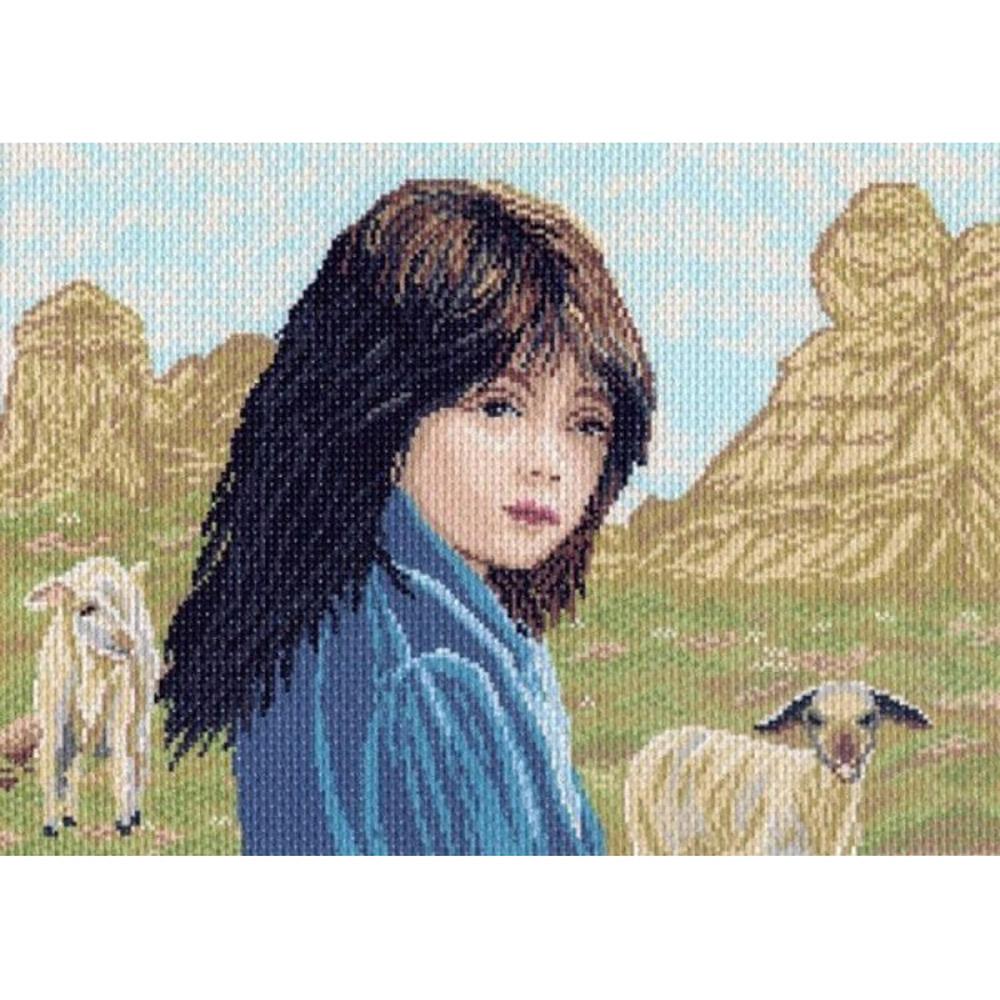 906 Канва с рисунком 'Матренин Посад' 'Пастушка', 37*49 см
