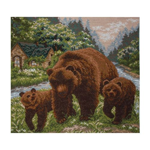 1129 Канва с рисунком 'Матренин посад' 'Медвежий угол', 41*41 см