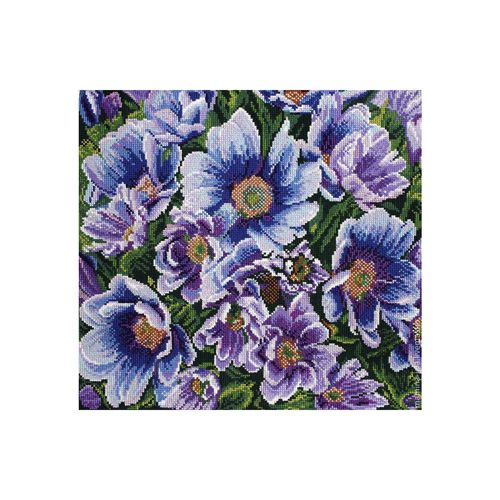 1211 Канва с рисунком 'Матренин посад' 'Лилово-голубые цветы', 41*41 см