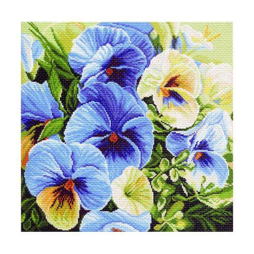 1247 Канва с рисунком 'Матренин посад' 'Голубые россыпи', 41*41 см