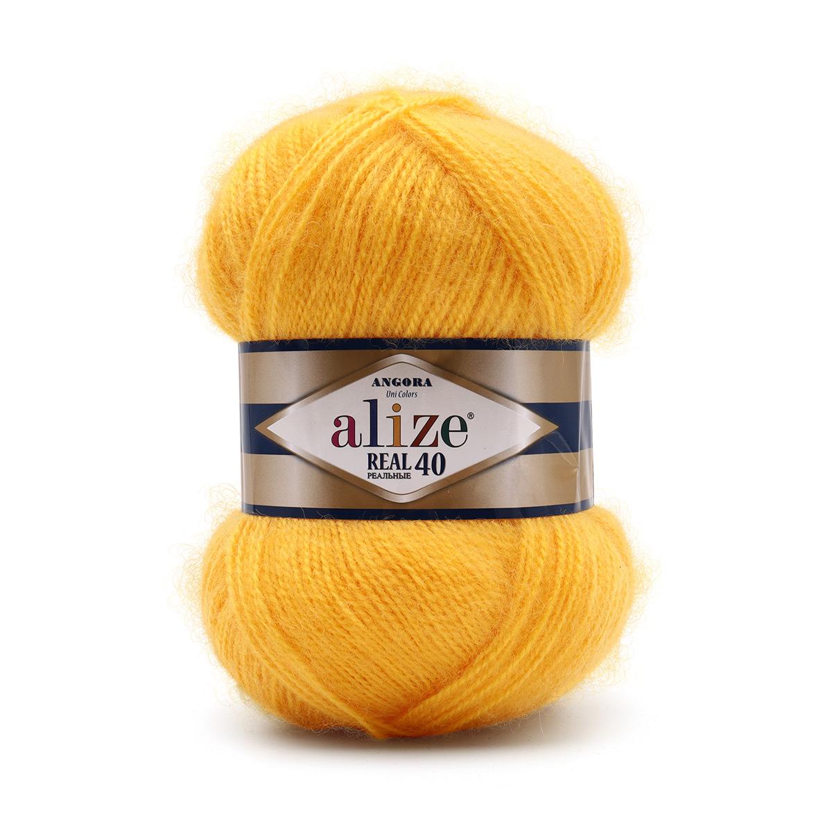 Пряжа ALIZE 'Angora real 40' 100 гр. 480м (40% шерсть, 60% акрил)