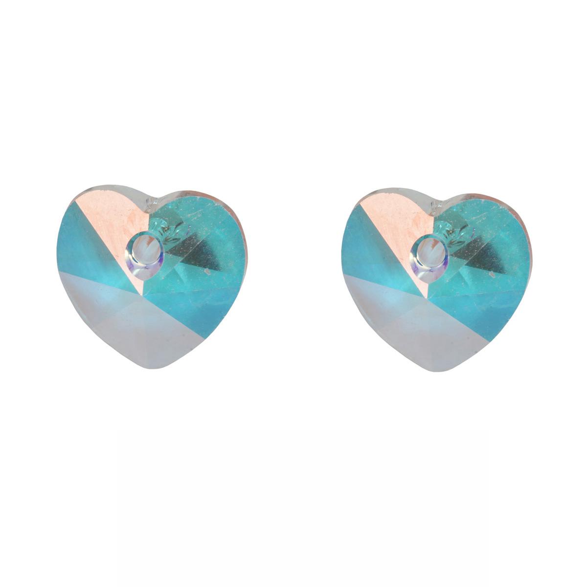 433-68-301 Подвеска Сердечко Crystal AB 10,3x10мм. 2 шт. Preciosa