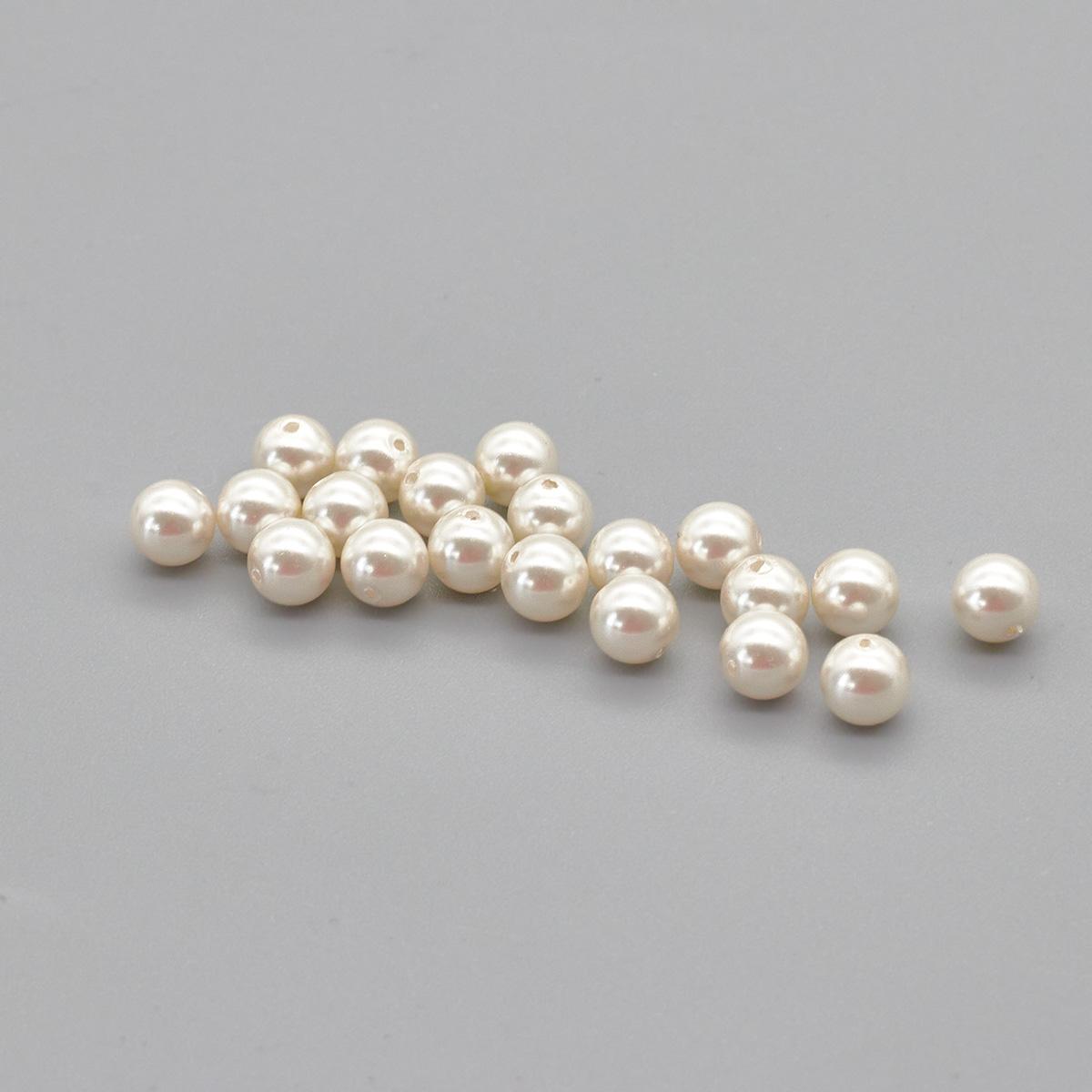 131-10-011 Хрустальный жемчуг White 6мм. 20 шт. Preciosa