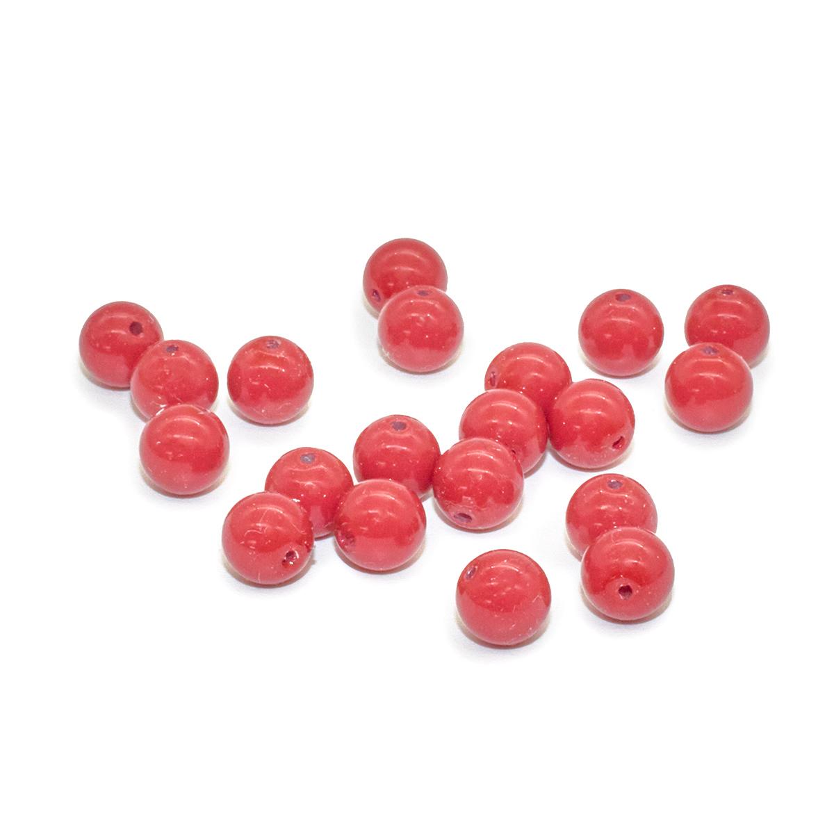 131-10-011 Хрустальный жемчуг Cranberry 6мм. 20 шт. Preciosa
