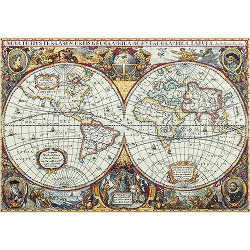 PZ-1842 Набор для вышивания PANNA Золотая серия 'Географическая карта мира' 63,5x44,5см