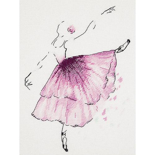 C-1886 Набор для вышивания PANNA 'Балерина. Анемон' 20x23см