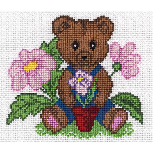 D-0001 Набор для вышивания PANNA 'Мишка' 15x17см