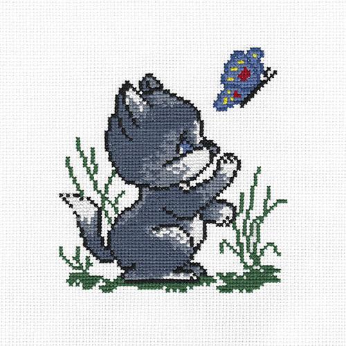 D-0002 Набор для вышивания PANNA 'Котик' 11x11,5см