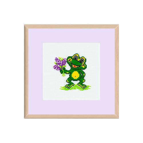 D-0009 Набор для вышивания PANNA 'Лягушонок' 10,5x10,5см