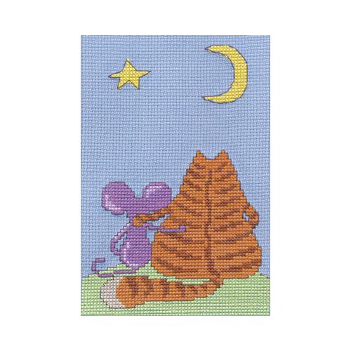 D-0082 Набор для вышивания PANNA 'Мечтания под луной' 13x19см