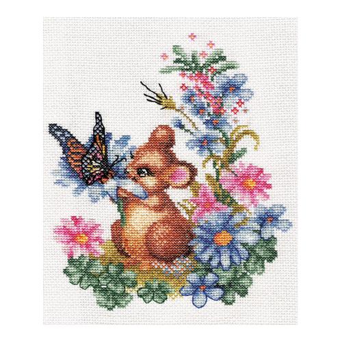 D-0274 Набор для вышивания PANNA 'Любопытный мышонок' 20x23см