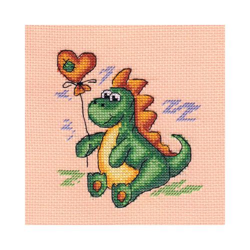 D-0561 Набор для вышивания PANNA 'Дракоша' 13x13см
